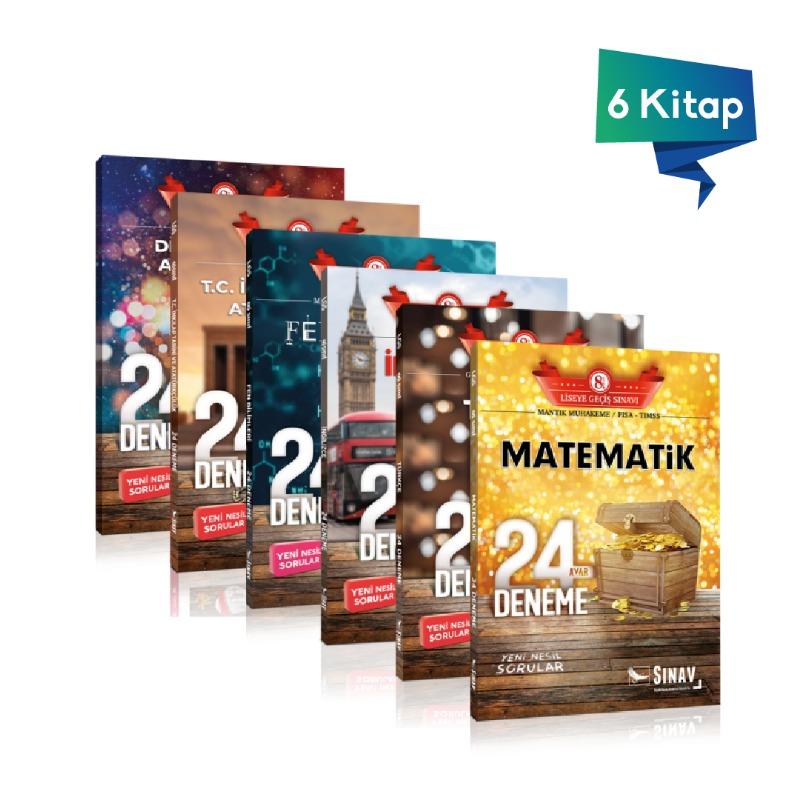 Sınav 8.Sınıf LGS Tüm Dersler 24 Deneme Kazandıran Set Sınav Yayınları