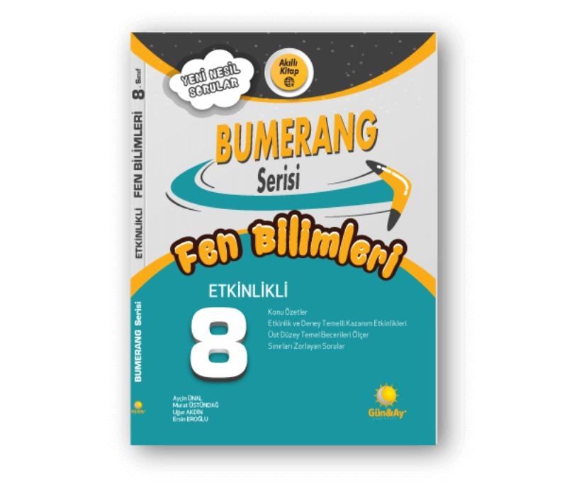 8. Sınıf LGS Fen Bilimleri Etkinlikli Bumerang Serisi Günay Yayınları