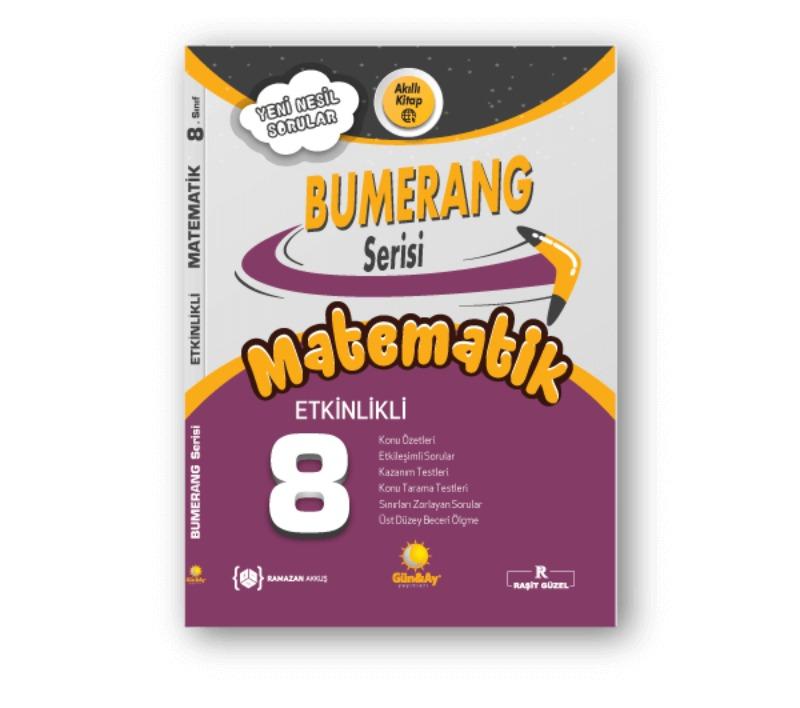 8. Sınıf LGS Matematik Etkinlikli Bumerang Serisi Günay Yayınları