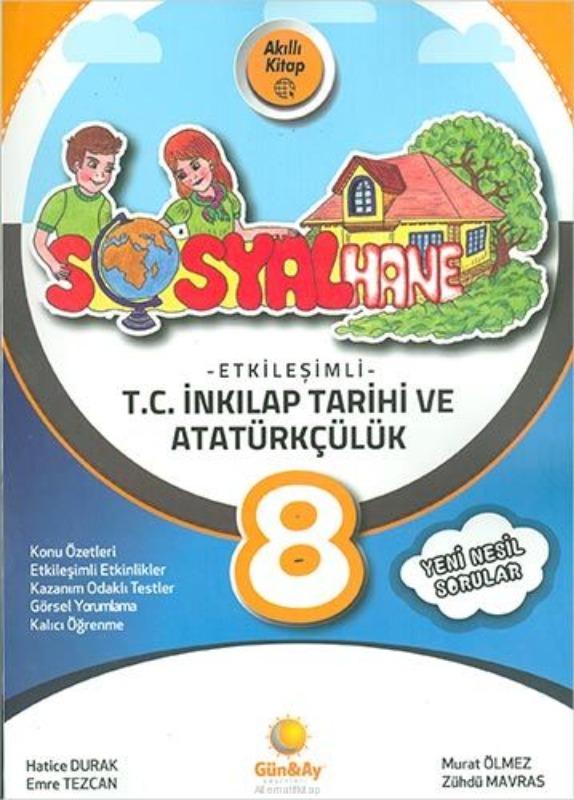 8.Sınıf LGS İnkılap Tarihi Etkileşimli Sosyalhane Günay Yayınları