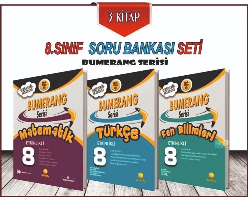 Gunay Yayınları Lgs  8.sınıf Bumerang Turkce Fen Matematik