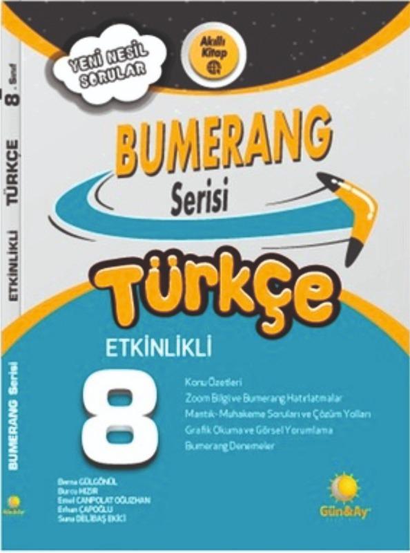 8. Sınıf LGS Türkçe Etkinlikli Bumerang Serisi Günay Yayınları