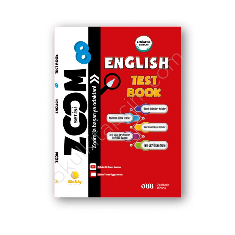 Günay Yayınları 8. Sınıf English Test Book Zoom Soru Bankası