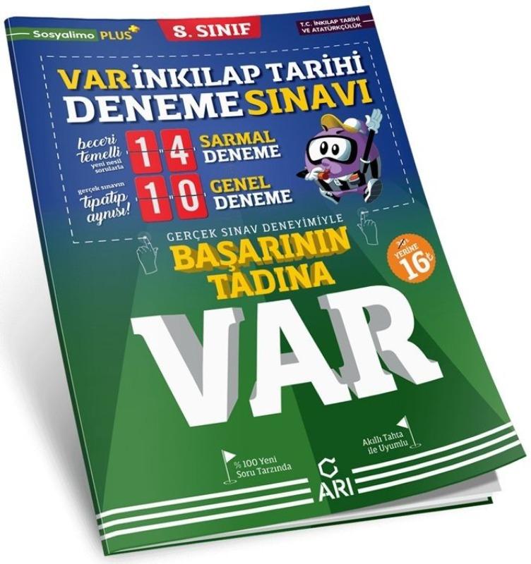Arı Yayınları 8. Sınıf T.C. İnkılap Tarihi ve Atatürkçülük Başarının Tadına Var Deneme Sınavı