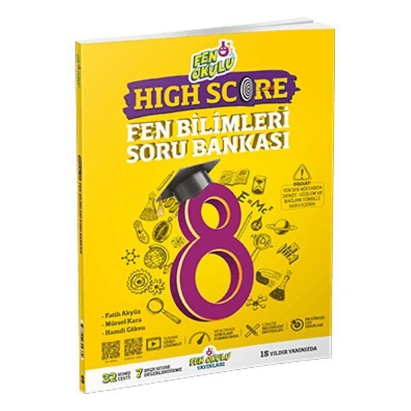 8.Sınıf High Score Lgs Fen Bilimleri Soru Bankası Fen Okulu Yayınları