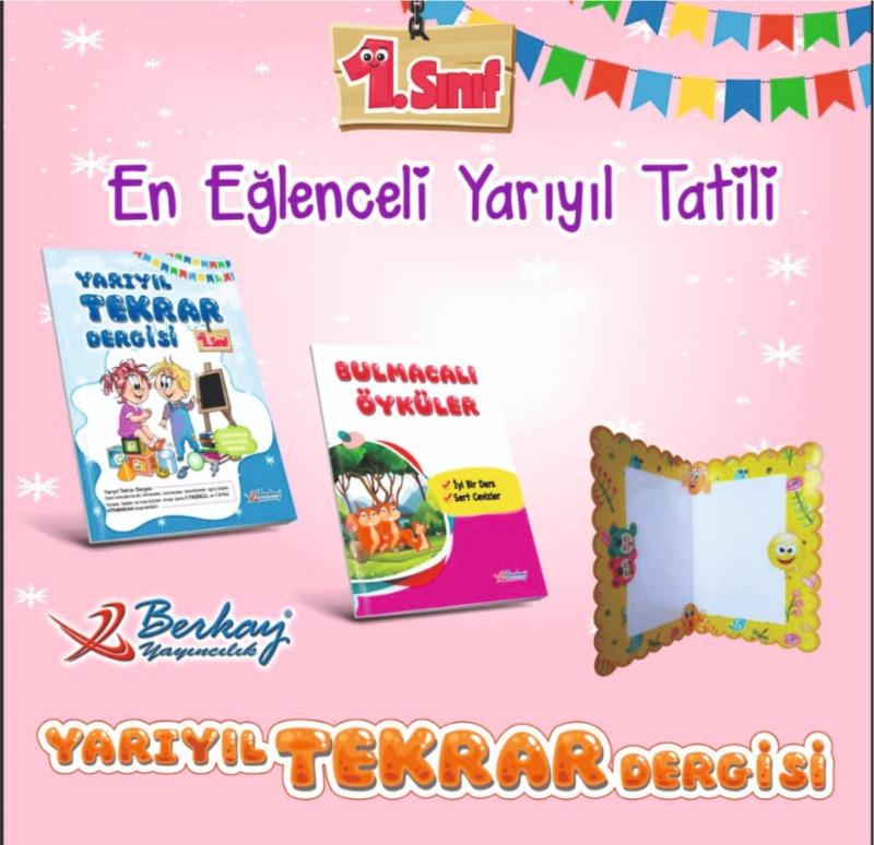 Berkay Yayınları 1.Sınıf Yarıyıl Tatil Seti 2019-2020