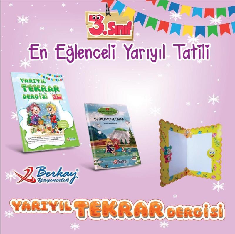 Berkay Yayınları 3.Sınıf Yarıyıl Tatil Seti 2019-2020