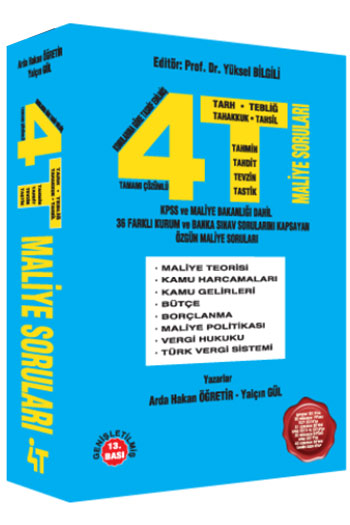 4T Yayinlari KPSS A Grubu Özgün Maliye Sorulari 13.Baski