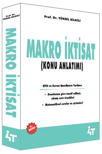4T Yayinlari Makro Iktisat Konu Anlatimi 8. Baski