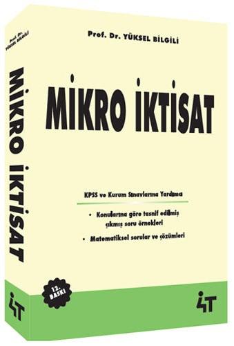 4T Yayinlari Mikro Iktisat Yüksel Bilgisi 12. Baski
