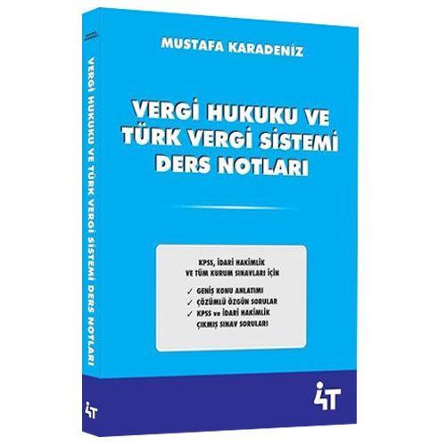 4T Yayinlari Vergi Hukuku ve Türk Vergi Sistemi Ders Notlari