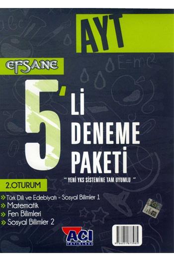 Açi Yayinlari - YKS 2. Oturum AYT Efsane 5'li Deneme Paketi