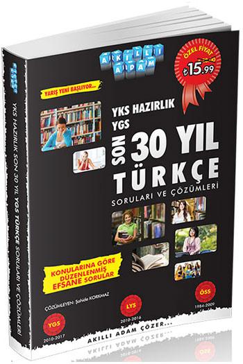 Akilli Adam Yayinlari YKS Hazirlik Son 30 Yil Türkçe Sorulari ve Çözümleri