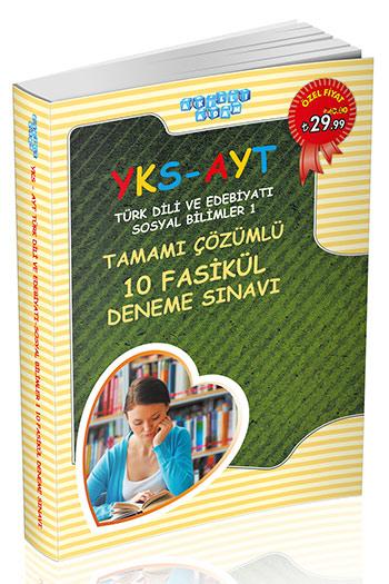 Akilli Adam Yayinlari YKS AYT Türk Dili ve Edebiyati - Sosyal Bilimler-1 Tamami Çözümlü 10 Fasikül Deneme Sinavi