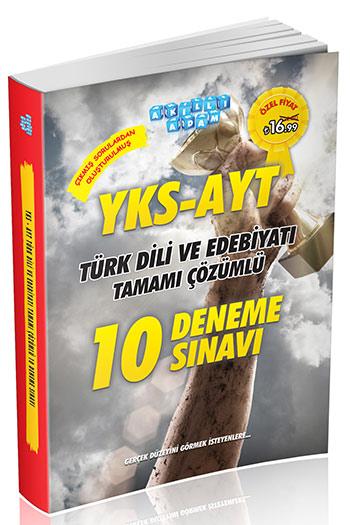Akilli Adam Yayinlari YKS-AYT Türk Dili ve Edebiyati Tamami Çözümlü 10 Deneme Sinavi