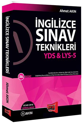 Akin Dil & Yargi Yayinlari 2018 YDS & AYT-5 Ingilizce Sinav Teknikleri 56. Baski