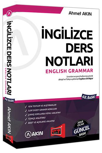 Akin Dil & Yargi Yayinlari 2018 YDS Grammar Ingilizce Ders Notlari 48. Baski