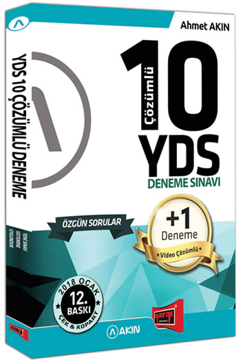 Akin Dil & Yargi Yayinlari YDS 10 +1 Çözümlü Özgün Deneme Sinavi 12. Baski