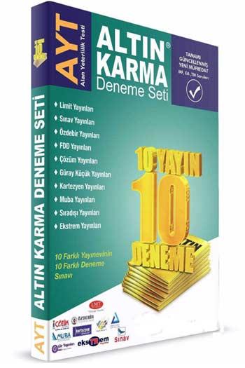 Altin Karma YKS 2. Oturum AYT Deneme Seti 10 Farkli Yayin 10 Farkli Deneme