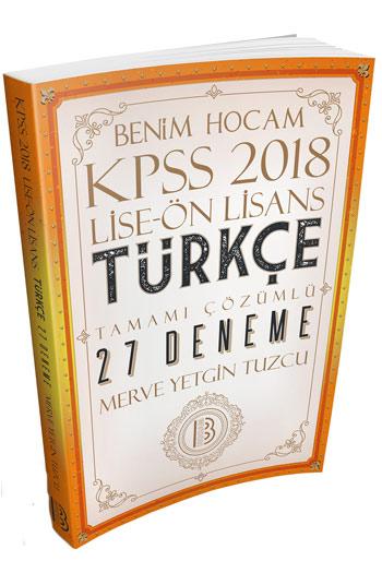 Benim Hocam Yayinlari 2018 KPSS Lise Ön Lisans Türkçe Tamami Çözümlü 27 Deneme