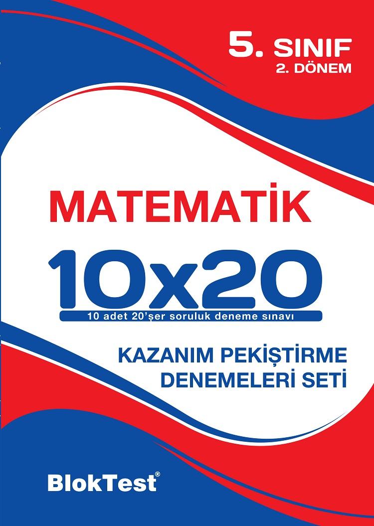 Bloktest 5.Sinif Matematik 10x20 2 Dönem Deneme