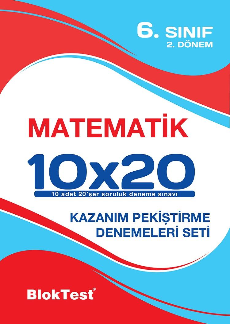 Bloktest 6.Sinif Matematik 10x20 2 Dönem Deneme