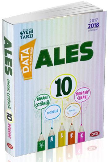 Data Yayinlari 2017-2018 Dönemi ALES Fasiküllü Tamami Çözümlü 10 Deneme Sinavi