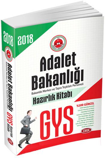 Data Yayinlari 2018 GYS Adalet Bakanligi Hazirlik Kitabi