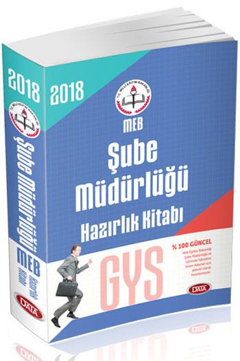 Data Yayinlari 2018 GYS Milli Egitim Bakanligi Sube Müdürlügü Hazirlik Kitabi