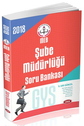 Data Yayinlari 2018 GYS Milli Egitim Bakanligi Sube Müdürlügü Soru Bankasi