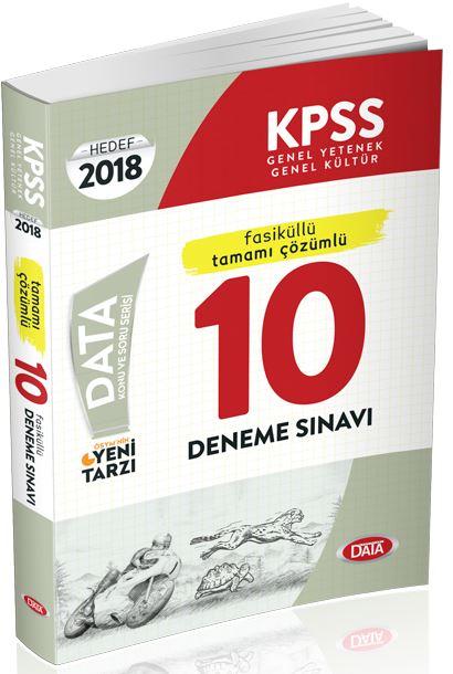 Data Yayinlari 2018 KPSS Genel Yetenek Genel Kültür Tamami Çözümlü 10 Deneme