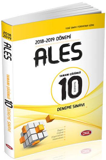 Data Yayinlari 2018-2019 Dönemi ALES Tamami Çözümlü 10 Deneme Sinavi