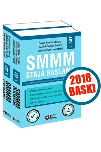 EST Yayincilik SMMM Staja Baslama Konu Anlatim Cilt 1-2