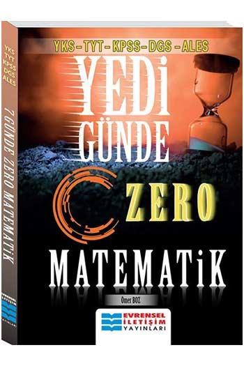 Evrensel Iletisim Yayinlari YKS-TYT-KPSS-DGS-ALES Yedi Günde Zero Matematik