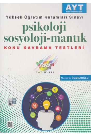 FDD Yayinlari YKS AYT Psikoloji-Sosyoloji-Mantik Konu Kavrama Testleri