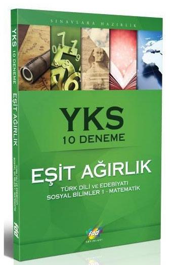 FDD Yayinlari YKS Esit Agirlik 10 Deneme Türk Dili Ve Edebiyati Sosyal Bilimler 1 Matematik