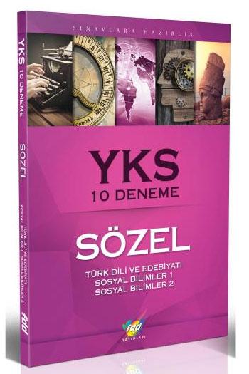 FDD Yayinlari YKS Sözel 10 Deneme Türk Dili Ve Edebiyati Sosyal Bilimler 1 Sosyal Bilimler 2