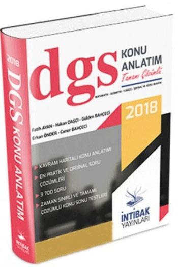Intibak Yayinlari 2018 DGS Konu Anlatim Kitabi