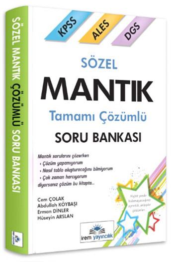 Irem Yayincilik KPSS ALES DGS Sözel Mantik Çözümlü Soru Bankasi