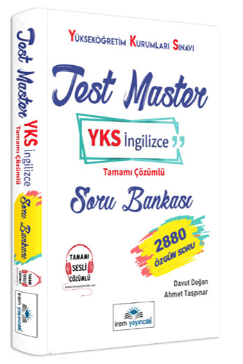 Irem Yayincilik Test Master YKS Ingilizce Tamami Çözümlü Soru Bankasi