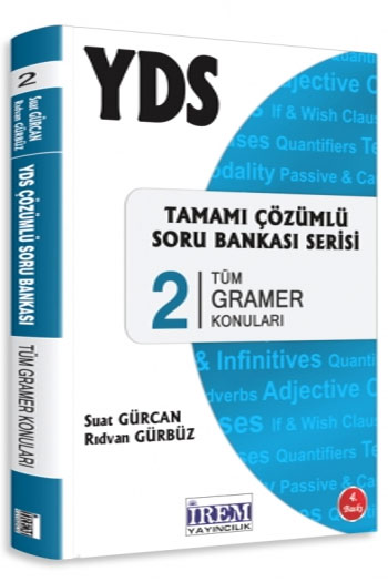 Irem Yayincilik YDS Tamami Çözümlü Soru Bankasi Serisi 2 Tüm Gramer Konulari