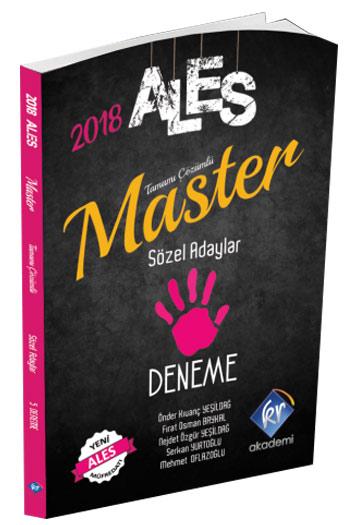 KR Akademi 2018 ALES Master Sözel Adaylar Tamami Çözümlü 5 Deneme