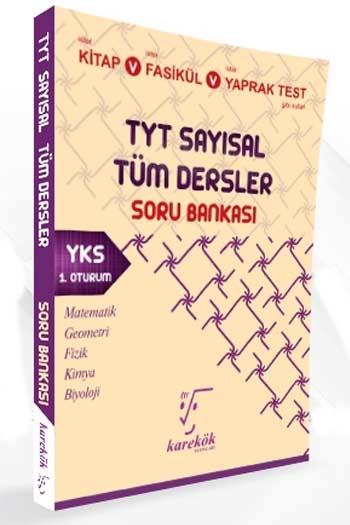 Karekök Yayinlari YKS 1. Oturum TYT Sayisal Tüm Dersler Soru Bankasi