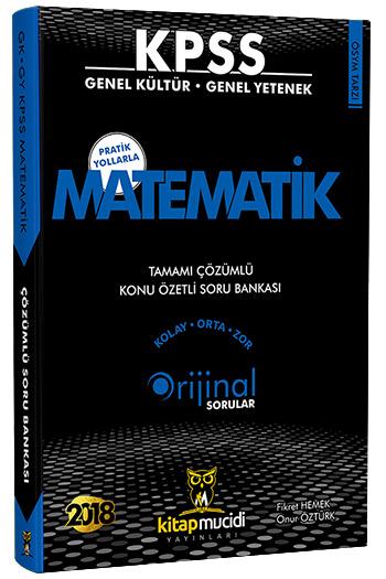 Kitap Mucidi Yayinlari 2018 KPSS Matematik Tamami Çözümlü Konu Özetli Soru Bankasi