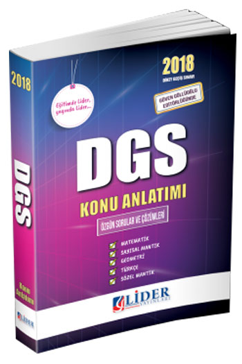 Lider Yayinlari 2018 DGS Konu Anlatimi