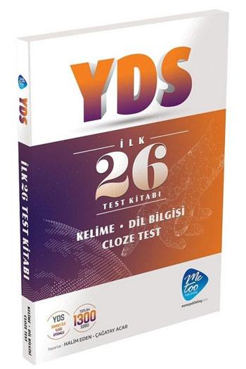 MeToo Publishing YDS Ilk 26 Test Kitabi Cloze Test