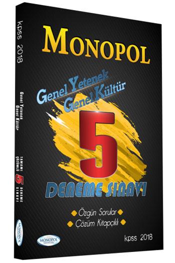 Monopol Yayinlari 2018 KPSS Genel Yetenek Genel Kültür Çözümlü 5 Deneme Sinavi