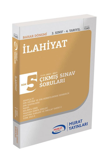 Murat Yayinlari 2. Sinif 4. Yariyil Ilahiyat Son 5 Yil Çikmis Sinav Sorulari Kod 7243