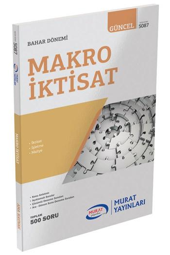 Murat Yayinlari 2. Sinif 4. Yariyil Makro Iktisat Kod 5087