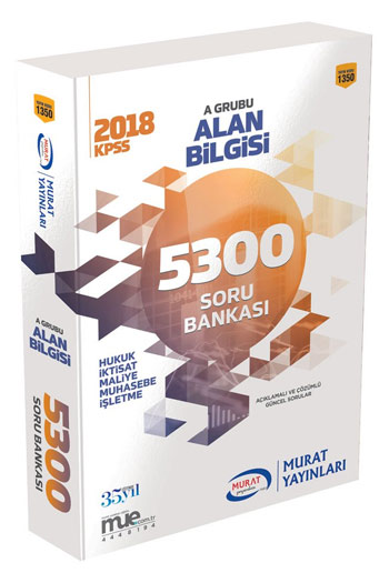 Murat Yayinlari 2018 KPSS A Grubu Alan Bilgisi 5300 Soru Bankasi Kod 1350